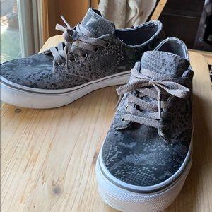 Vans gray snakeskin print suede women's 9.